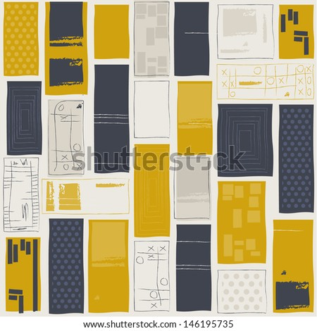Retro seamless pattern - stock vector