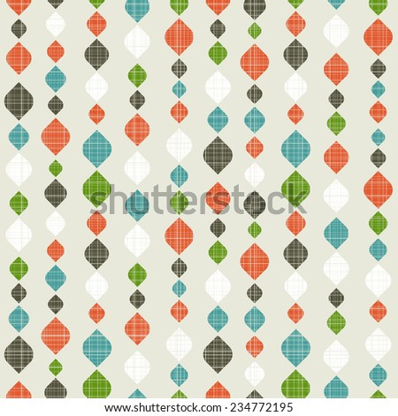 Retro seamless pattern. Colorful vector background for hipster. - stock vector