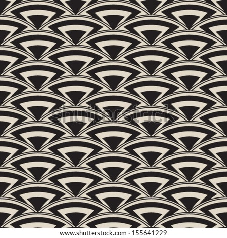 Retro seamless pattern in art deco style, antique stylish ornament,vector repeating fashion texture - stock vector