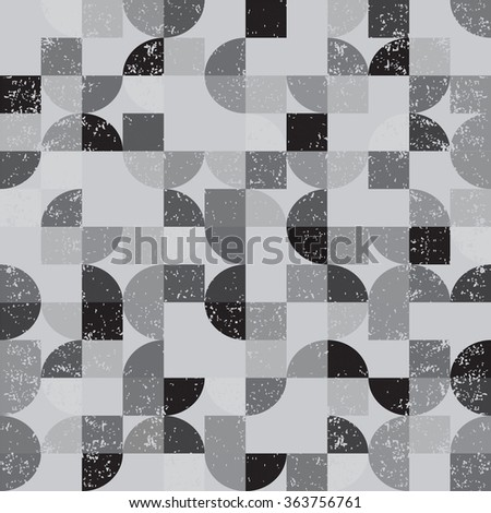 Retro seamless pattern with circles. - stock vector