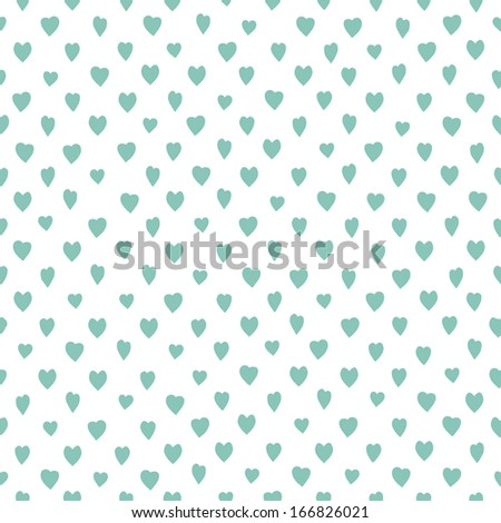 Retro seamless pattern with colorful hearts. Great for Valentines day. Abstract romantic background. Vector illustration - stock vector