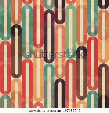 retro seamless pattern with grunge effect - stock vector