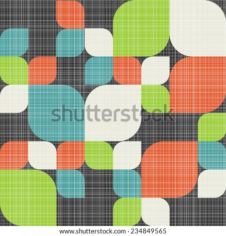 Retro seamless pattern with leaves. Colorful vector background for hipster. - stock vector