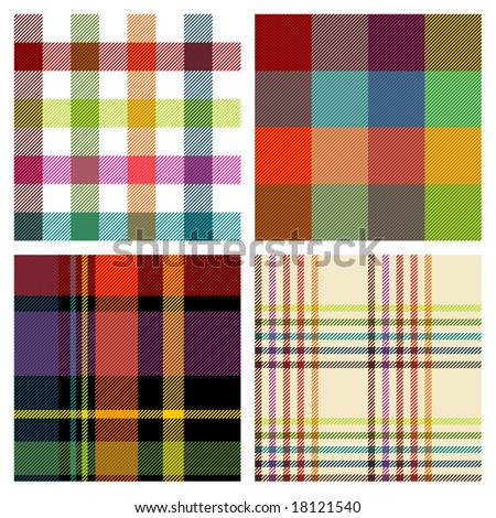 retro seamless patterns - stock vector