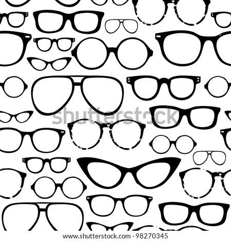 Retro Seamless spectacles - stock vector