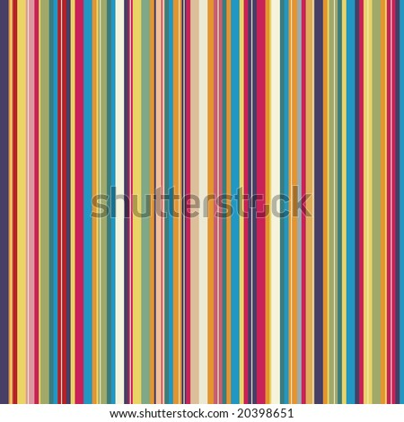 Retro (seamless) stripe pattern with stylish colors - stock vector