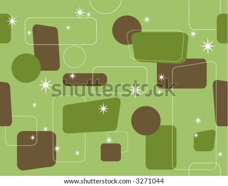 Retro Seamless Vector Artwork - stock vector