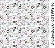 Retro seamless vivid gear wallpaper - stock vector