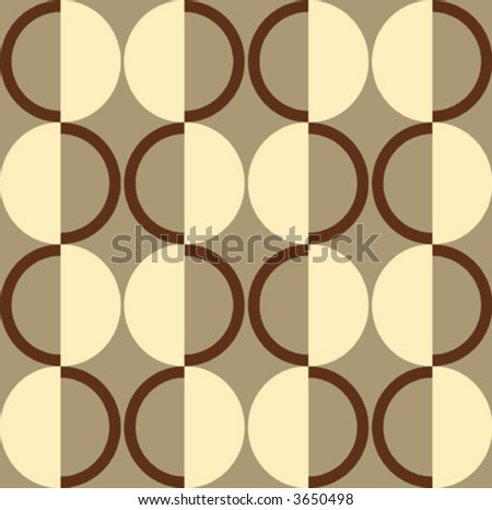 Retro seamless wallpaper vector - stock vector