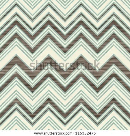 retro seamless zigzag pattern - stock vector