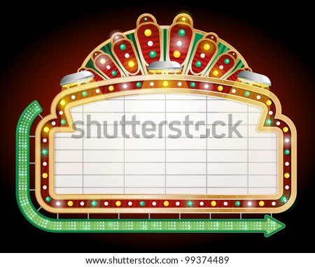Retro Sign. - stock vector