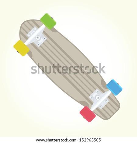 Retro skateboard isolated vector - stock vector