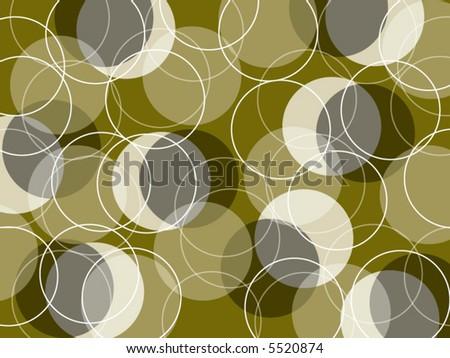 retro skinny rings ochre (vector) - stock vector