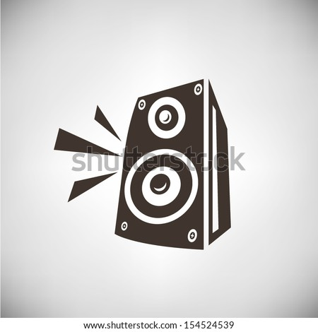 retro speaker - stock vector