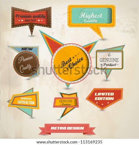 Retro speech bubbles collection. Vector - stock vector