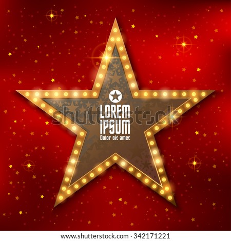 Retro star template - stock vector