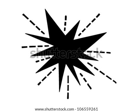 Retro Starburst - Clipart Illustration - stock vector