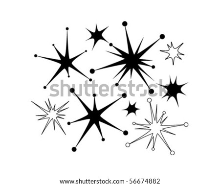 Retro Stars 9 - Clip Art - stock vector