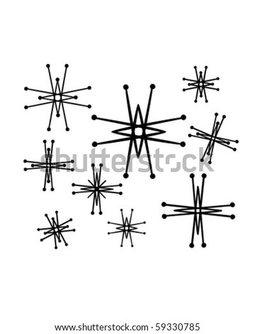 Retro Stars 6 - Clip Art - stock vector