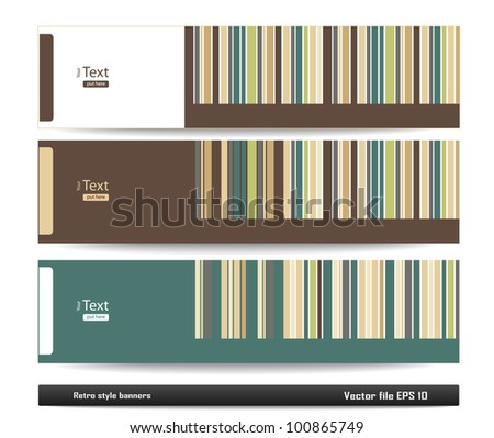 Retro style banners - stock vector