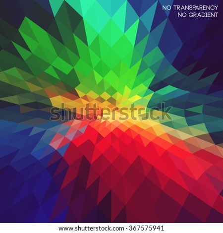 Retro style colored, technology concept abstract art background. Ideal for futuristic and perspective backgrounds, cover designs. - stock vector