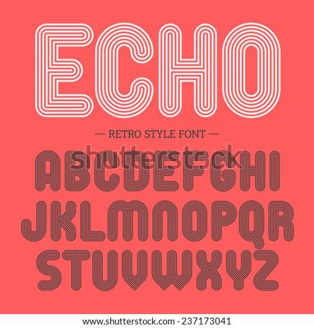 Retro style font. Vector. - stock vector