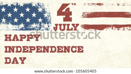 Retro Style Independence Day Design Template. Vector, EPS10 - stock vector