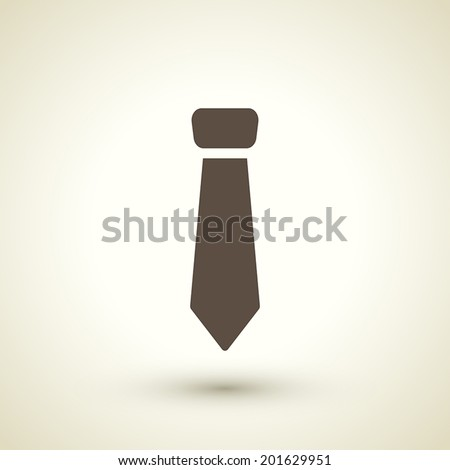 retro style necktie icon isolated on brown background - stock vector