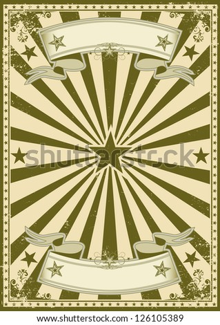 Retro style poster. A vintage poster with sunbeams for you. - stock vector