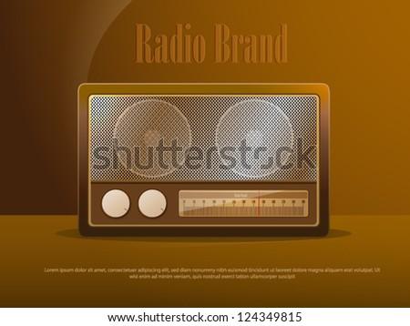 Retro style radio - stock vector