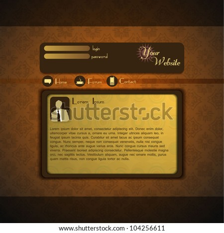 Retro style website design - stock vector
