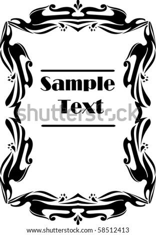 Retro-styled frame. Vector - stock vector