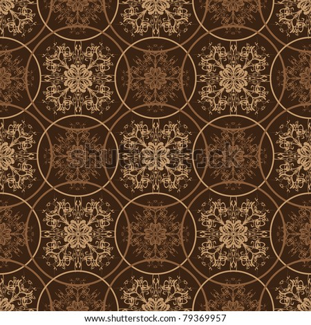 Retro styled seventies wallpaper seamless fit background pattern - stock vector