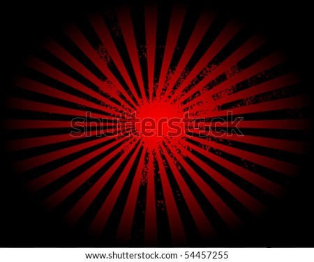 Retro sun burst, vector illustration - stock vector