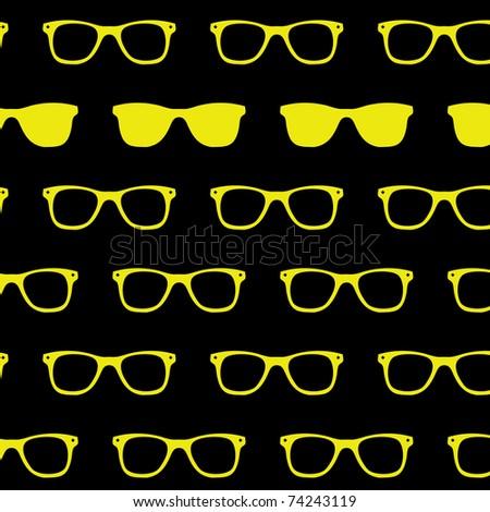 Retro Sun glasses background classic wayfarer sunglasses - stock vector