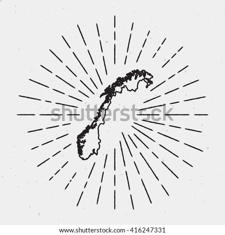 Feather Pen Vector Drawing Quill Calligraphy Stock Vector - Norway map drawing