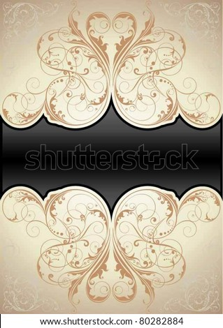 Retro swirl background - stock vector
