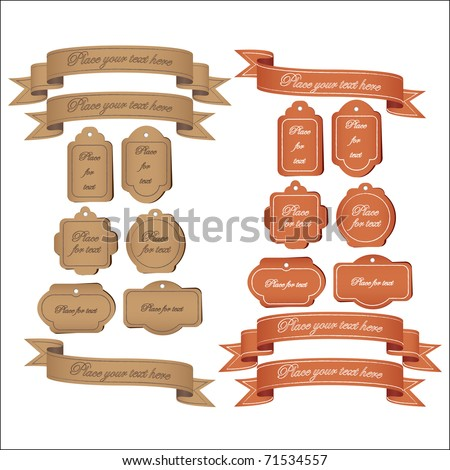 Retro Tags and Banners - stock vector