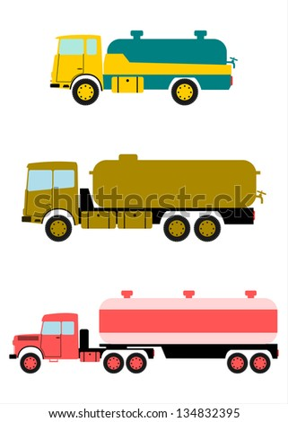 Retro tanker truck with space for any text. - stock vector
