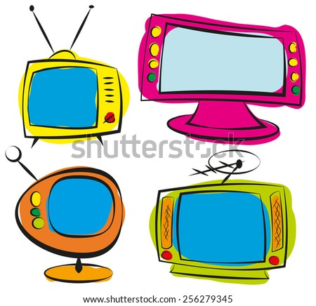 retro television - stock vector
