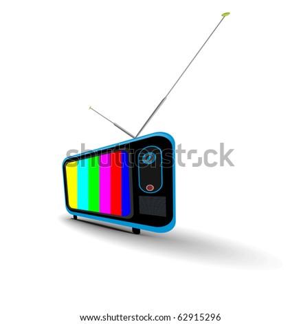 Retro television icon, vector illustration. - stock vector
