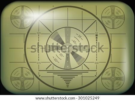 Retro Television Test Pattern vector illustration. - stock vector