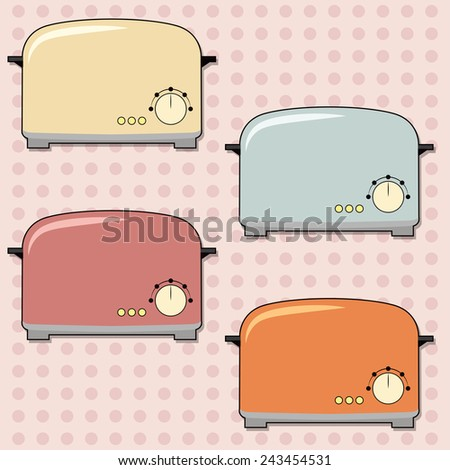 retro toaster background, illustration in vector format - stock vector