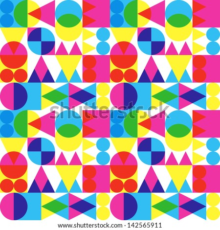 Retro transparent shapes background - stock vector
