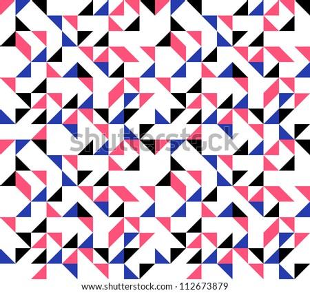 Retro Triangles Background - stock vector