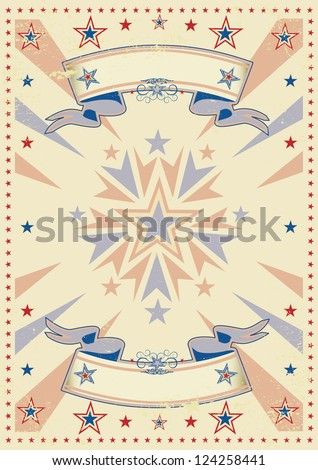 Retro tricolor sunbeams. A vintage background for a poster - stock vector