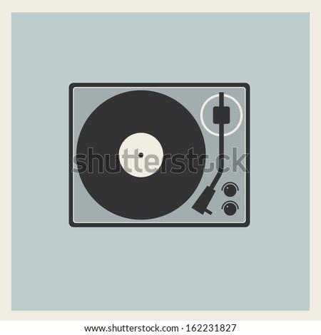 retro turntable vinyl record player vector stock vector 162231827
