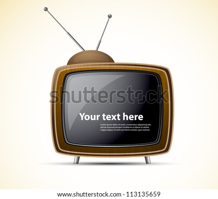 Retro tv - stock vector