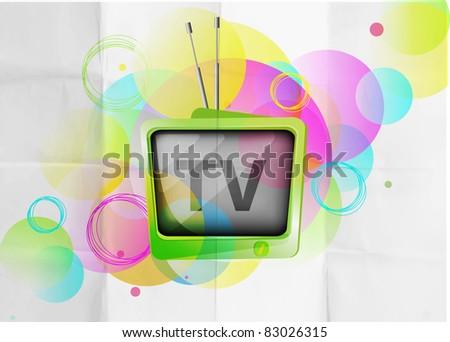 Retro TV background - stock vector