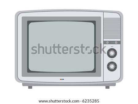 retro tv from the 1970s editable illustration